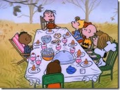 CharlieBrownThanksgivingTable