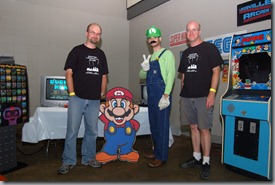 Matt Fleitz, Joe Stith and Jeremy Fleitz from The Louisville Arcade Expo. - Image courtesy of the Louisville Voice Tribune